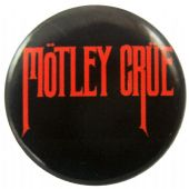Motley Crue - 'Name Red on Black' Button Badge